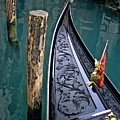 Bow Of Gondola In Venice by Michael Henderson