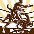 Boxer Knocking Out by Aloysius Patrimonio