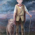 Boy With Dog by Hans Droog