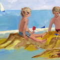 Boys At The Beach by Betty Pieper