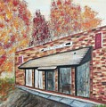 Brick Building by Suzanne  Marie Leclair