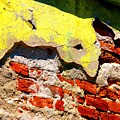 Bricks And Yellow By Michael Fitzpatrick by Mexicolors Art Photography