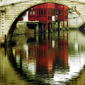 Bridge Over The Tong - Qibao Water Village China by Christine Till