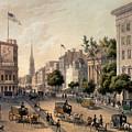 Broadway In The Nineteenth Century by Augustus Kollner