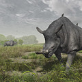 Brontotherium Wander The Lush Late by Walter Myers