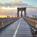 Brooklyn Bridge At Sunrise by Anne Strickland Fine Art Photography