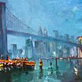 Brooklyn Bridge Print by Ylli Haruni