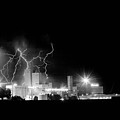 Budweiser Lightning Thunderstorm Moving Out Bw by James BO  Insogna