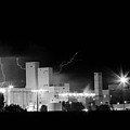 Budwesier Brewery Lightning Thunderstorm Image 3918  Bw by James BO  Insogna