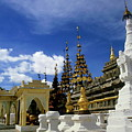 Built Structures Inside Shwezigon Pagoda by Sami Sarkis