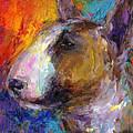 Bull Terrier Dog Painting by Svetlana Novikova