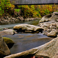 Bulls Bridge - Autumn Scene by Thomas Schoeller