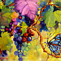 Butterfly And Grapes by Peggy Wilson