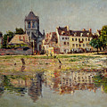 By The River At Vernon by Claude Monet