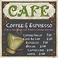 Cafe Chalkboard by Debbie DeWitt