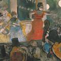 Cafe Concert At Les Ambassadeurs by Edgar Degas