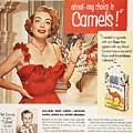 Camel Cigarette Ad, 1951 by Granger
