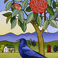 Camellia And Crow by Stacey Neumiller