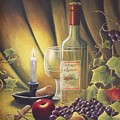 Candlelight Wine And Grapes by Diana Miller