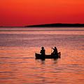 Canoe Fishing by John Greim