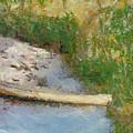 Canoe On Beach by Nada Frazier