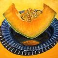 Cantaloupe Oil Painting by Natalja Picugina