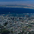 Capetown South Africa Aerial by Sandra Bronstein