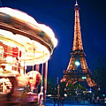 Carousel And Eiffel Tower by Elena Elisseeva