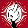 Cartoon Finger by Tony Rubino