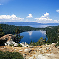 Cascade Lake And Lake Tahoe by Troy Montemayor
