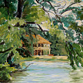 Cascadilla Boathouse Ithaca New York by Ethel Vrana