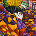 Cat In Quilts by Carol Wilson