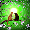 Cats On A Spring Night by Laura Iverson