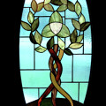 Celtic Three Root Tree by Laura Brightwood