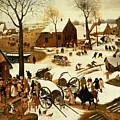Census At Bethlehem by Pieter the Elder Bruegel
