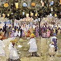Central Park  New York City  July Fourth  by Maurice Prendergast