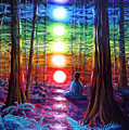 Chakra Meditation In The Redwoods by Laura Iverson
