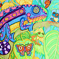 Chamelion And Rainforest Frogs by Nick Gustafson