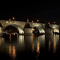 Charles Bridge At Night by Michal Boubin