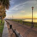 Charleston Sc Waterfront Park Sunrise  by Dustin K Ryan