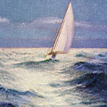 Chas Marer - Sailboat by Hawaiian Legacy Archive - Printscapes