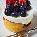 Cheese Cream Cake With Fruit by Garry Gay