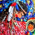 Cherokee Trail Of Tears Mother And Child by Laura  Grisham