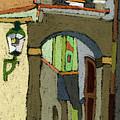 Chesky Krumlov Old Street Latran  by Yuriy  Shevchuk
