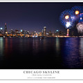 Chicago Lakefront Skyline Poster by Steve Gadomski