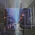 Chicago Rainy Street expanded Print by Anita Burgermeister