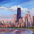 Chicago Skyline - John Hancock Tower by Jeff Pittman