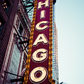 Chicago Theatre Marquee Sign Vintage by Paul Velgos
