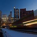 Chicago Train Blur by Sven Brogren