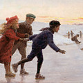 Children Skating by Percy Tarrant